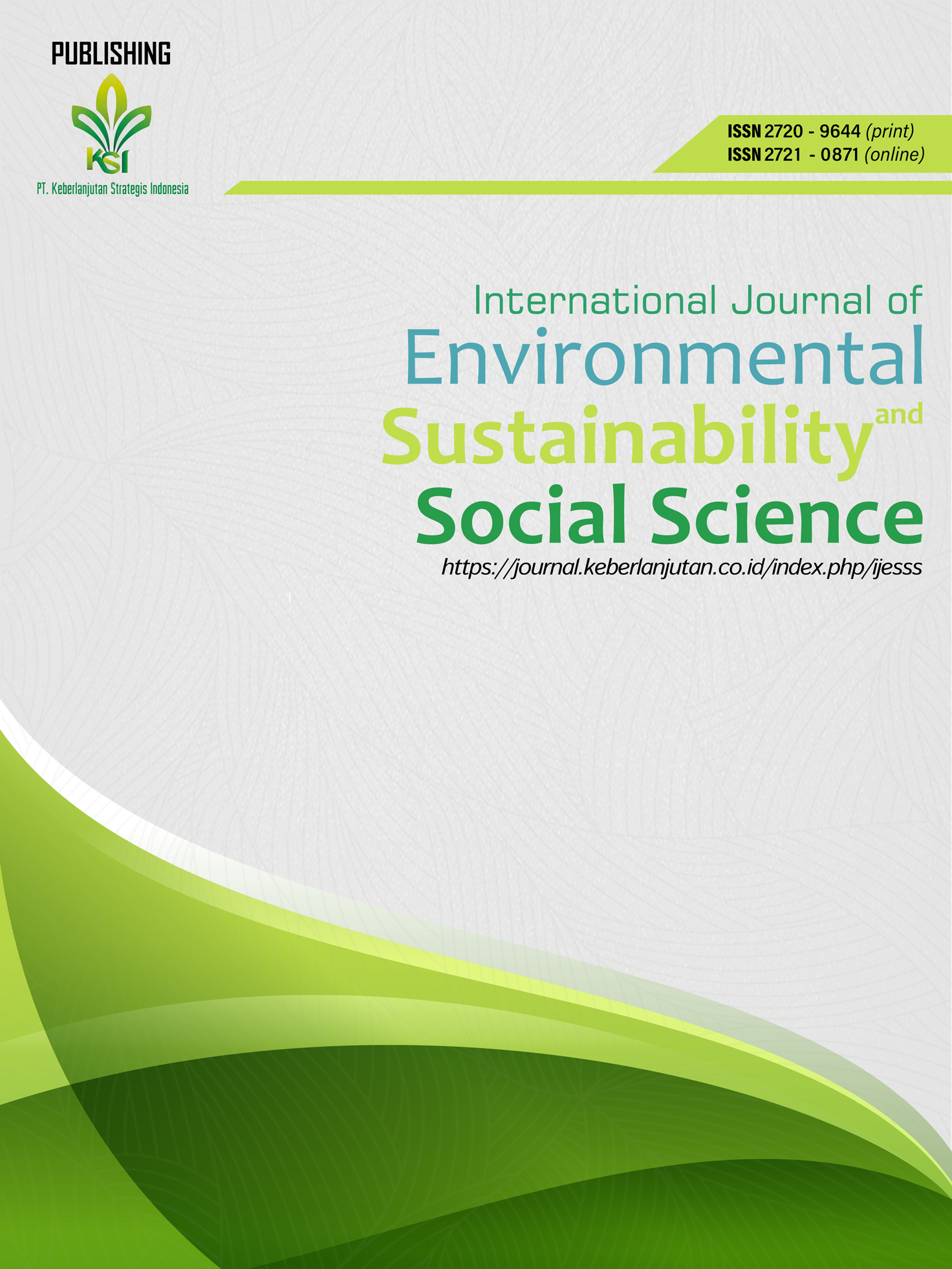 View Vol. 1 No. 3 (2020): International Journal of Environmental, Sustainability, and Social Science